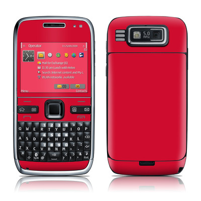 Nokia E72 Skin - Solid State Red
