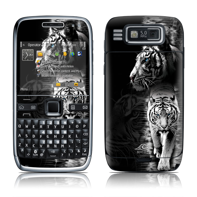 Nokia e72 skin white tiger by michael mcgloin | decalgirl.