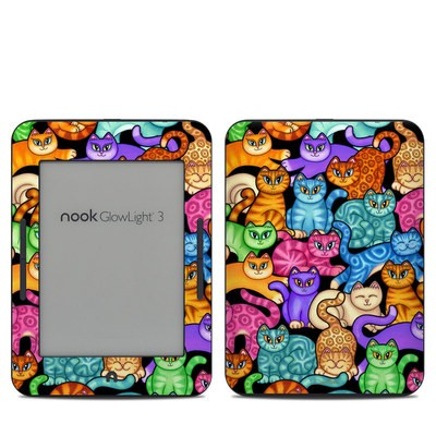 Barnes & Noble NOOK GlowLight 3 Skin - Colorful Kittens