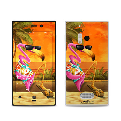 Nokia Lumia 928 Skin - Sunset Flamingo