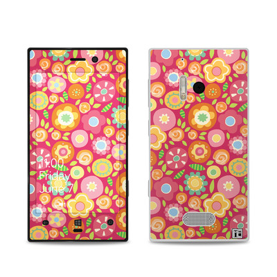 Nokia Lumia 928 Skin - Flowers Squished