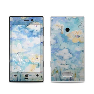 Nokia Lumia 928 Skin - White & Blue