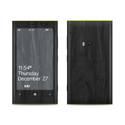Nokia Lumia 920 Skin - Black Woodgrain