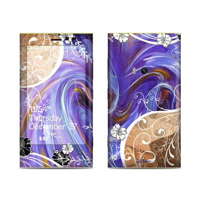 Nokia Lumia 920 Skin - Purple Waves