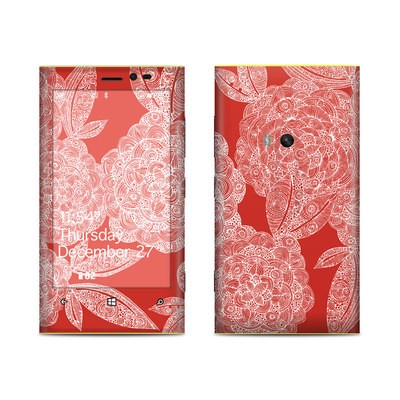 Nokia Lumia 920 Skin - Red Dahlias