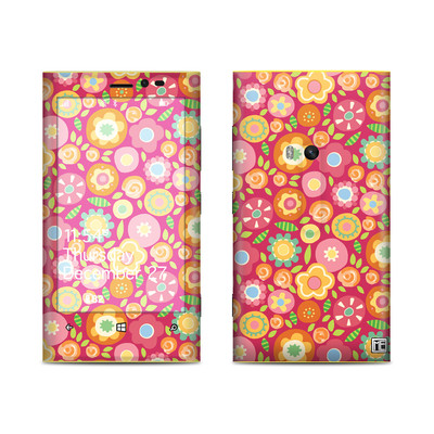 Nokia Lumia 920 Skin - Flowers Squished
