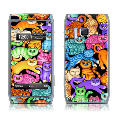 Nokia N8 Skin - Colorful Kittens