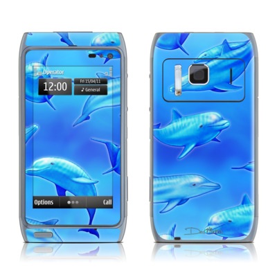 Nokia N8 Skin - Swimming Dolphins