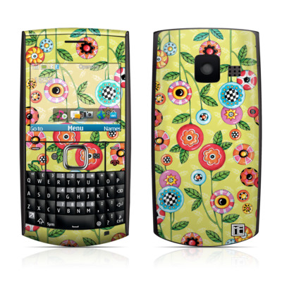 Nokia X2-01 Skin - Button Flowers