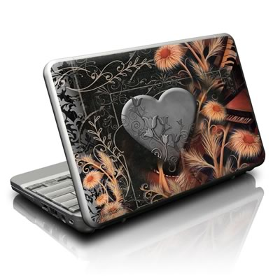 Netbook Skin - Black Lace Flower