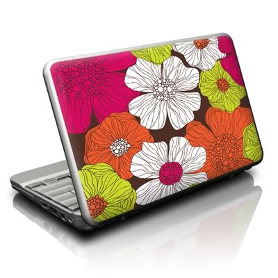 Netbook Skin - Brown Flowers