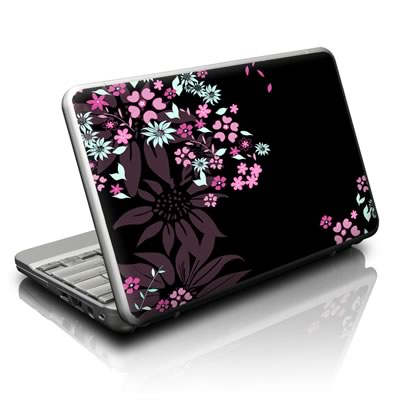Netbook Skin - Dark Flowers