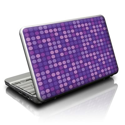 Netbook Skin - Big Dots Purple