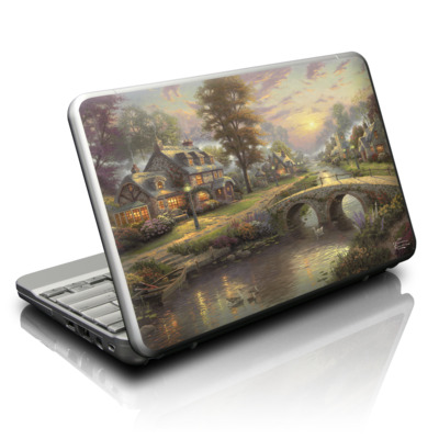 Netbook Skin - Sunset On Lamplight Lane