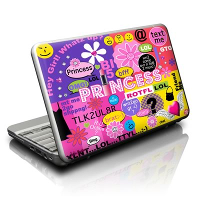 Netbook Skin - Princess Text Me