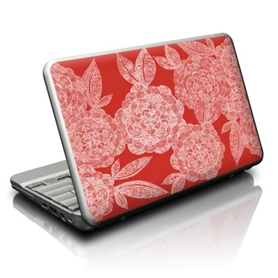 Netbook Skin - Red Dahlias