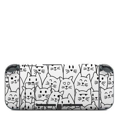 Nintendo Switch (Console Back) Skin - Moody Cats
