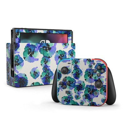 Nintendo Switch Skin - Blue Eye Flowers