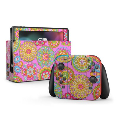 Nintendo Switch Skin - Bright Flowers