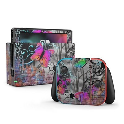 Nintendo Switch Skin - Butterfly Wall