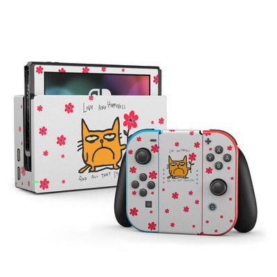 Nintendo Switch Skin - Catwad Happy