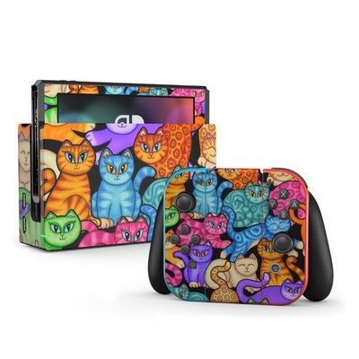 Nintendo Switch Skin - Colorful Kittens