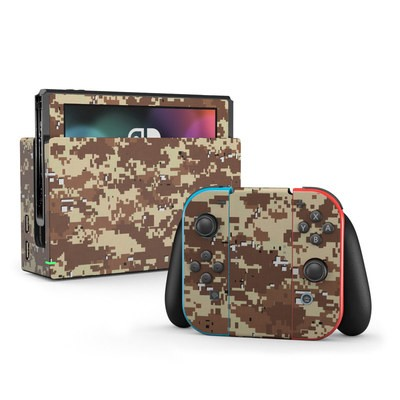 Nintendo Switch Skin - Digital Desert Camo