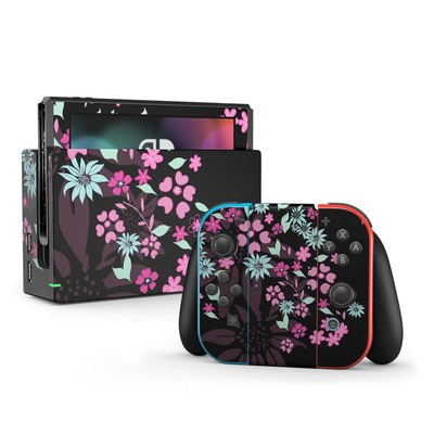 Nintendo Switch Skin - Dark Flowers