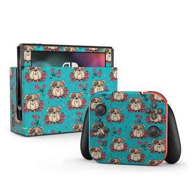 Nintendo Switch Skin - Bulldogs and Roses