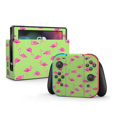 Nintendo Switch Skin - Flamingo Day