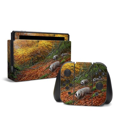 Nintendo Switch Skin - Forest Gold