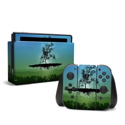 Nintendo Switch Skin - Flying Tree Blue