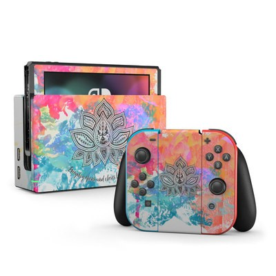 Nintendo Switch Skin - Happy Lotus