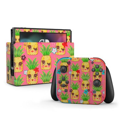 Nintendo Switch Skin - Happy Kawaii Pineapples