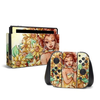 Nintendo Switch Skin - Lady Sunflower