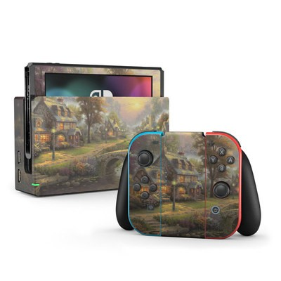 Nintendo Switch Skin - Sunset On Lamplight Lane