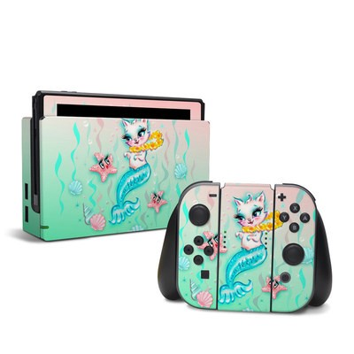Nintendo Switch Skin - Merkitten with Lei