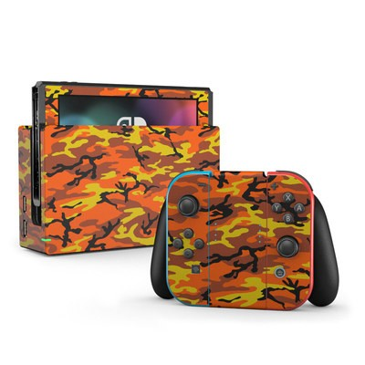 Nintendo Switch Skin - Orange Camo