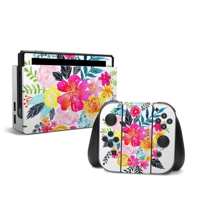 Nintendo Switch Skin - Pink Bouquet