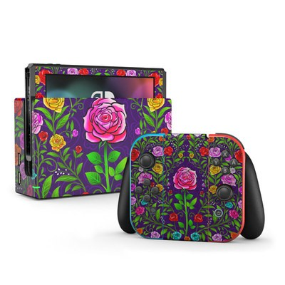 Nintendo Switch Skin - Rose Burst