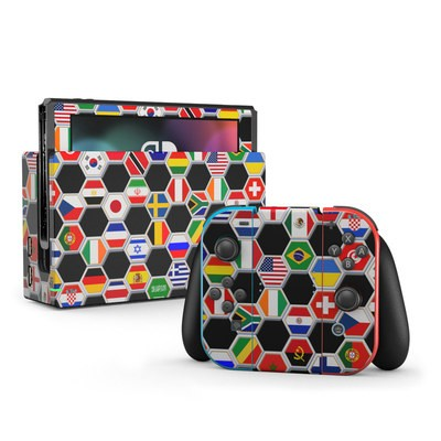 Nintendo Switch Skin - Soccer Flags