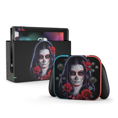 Nintendo Switch Skin - Sugar Skull Rose