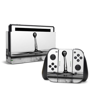 Nintendo Switch Skin - Silver Drop