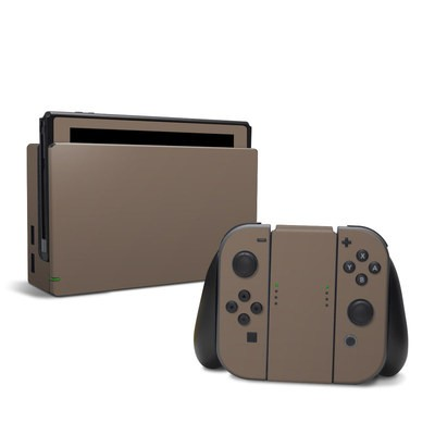 Nintendo Switch Skin - Solid State Flat Dark Earth