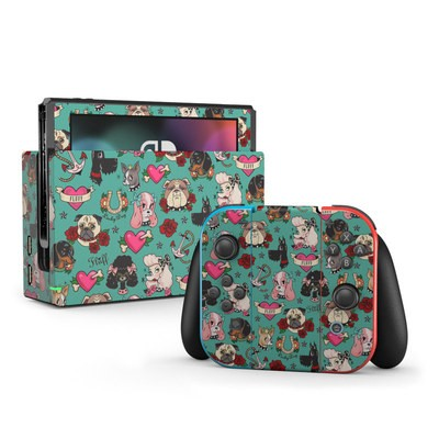 Nintendo Switch Skin - Tattoo Dogs