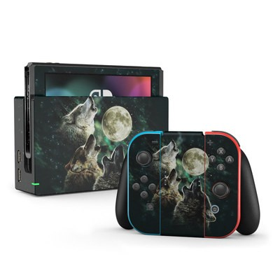 Nintendo Switch Skin - Three Wolf Moon