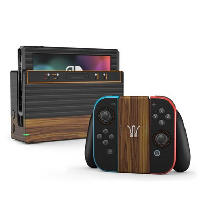 Nintendo Switch Skin - Wooden Gaming System