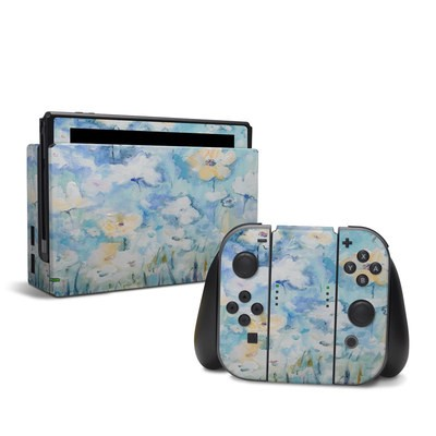 Nintendo Switch Skin - White & Blue