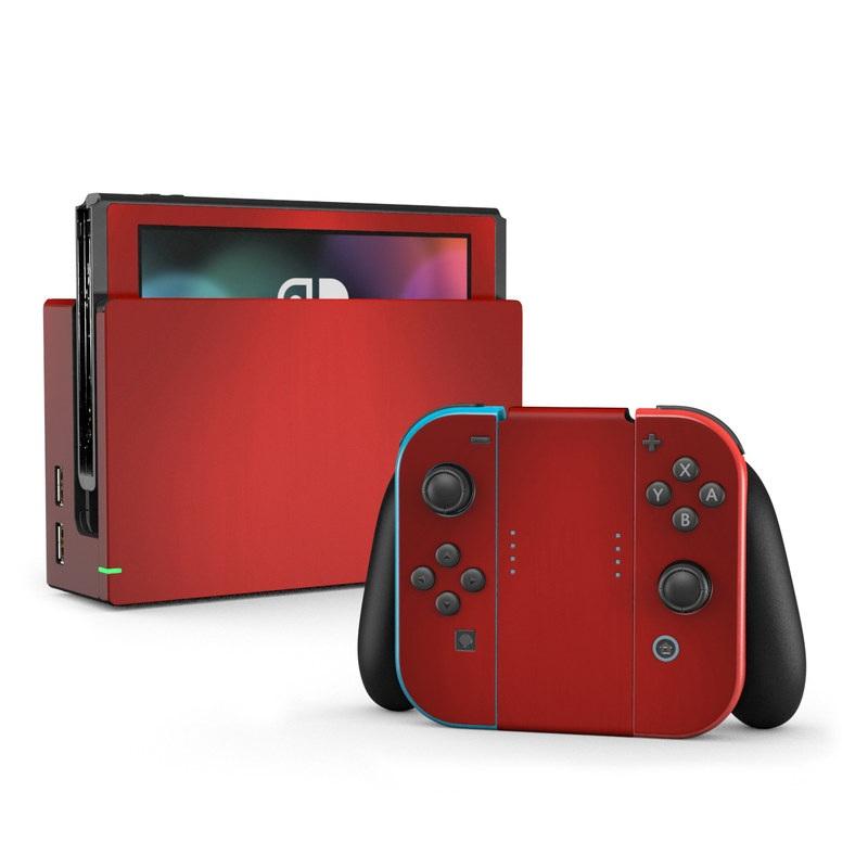Nintendo Switch Skin Red Burst Decalgirl