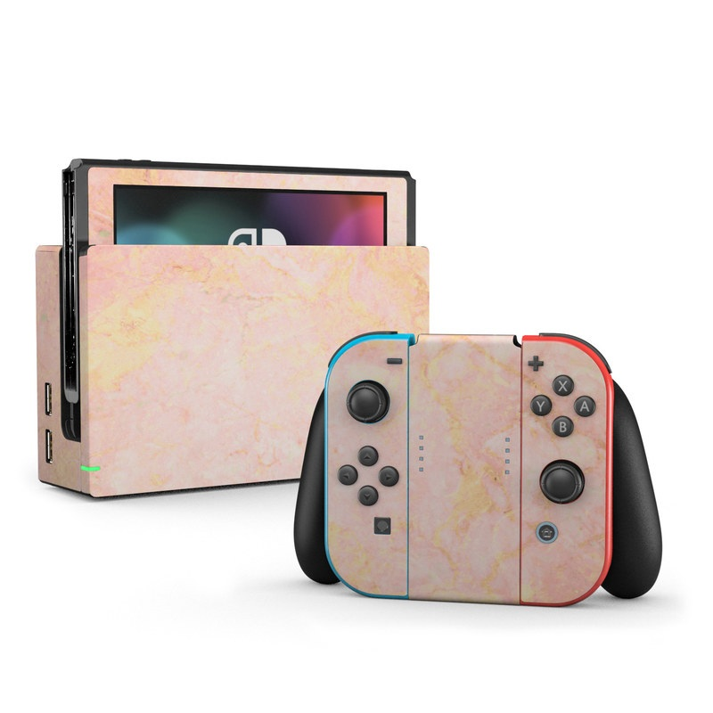 Nintendo Switch Skin Rose Gold Marble By Marble